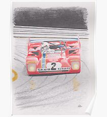 Ferrari 312PB by Glens Graphix Poster