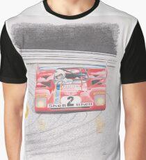 Ferrari 312PB by Glens Graphix Graphic T-Shirt