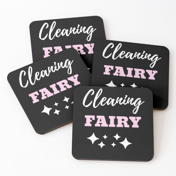 Cleaning Fairy Coasters (Set of 4)