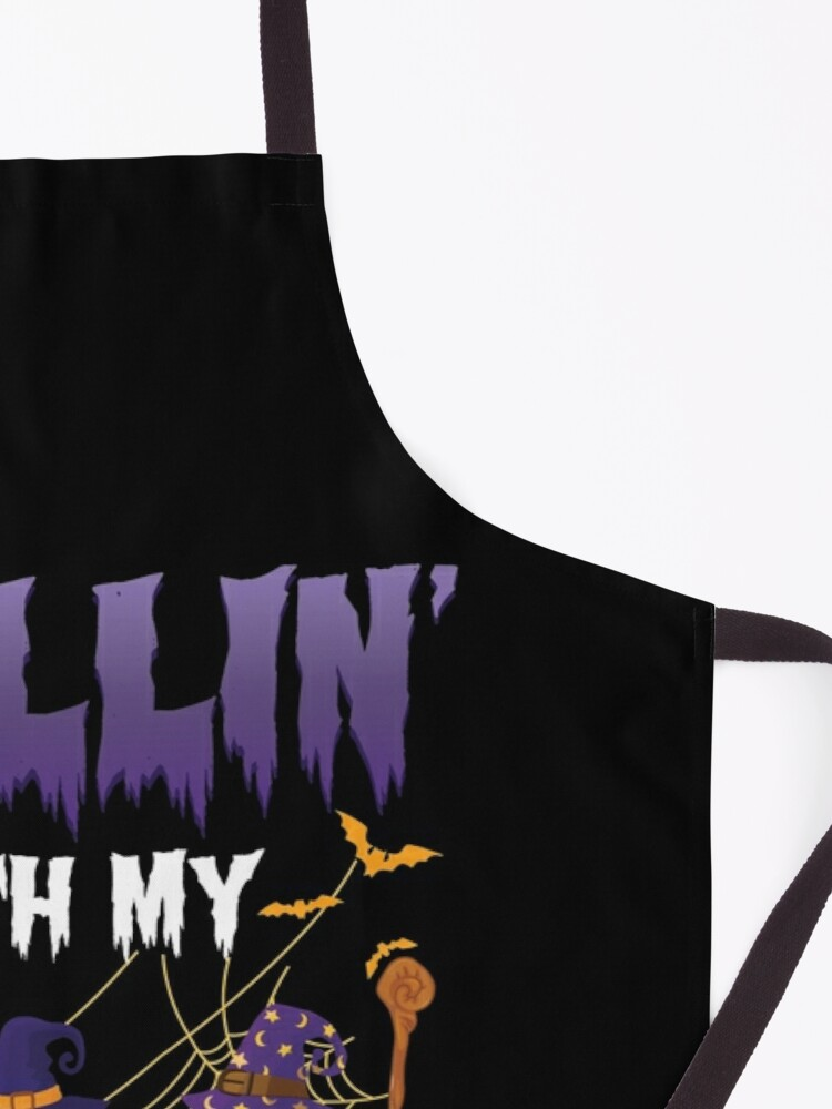 Alternate view of Chillin With My Witches Halloween Sloth Apron