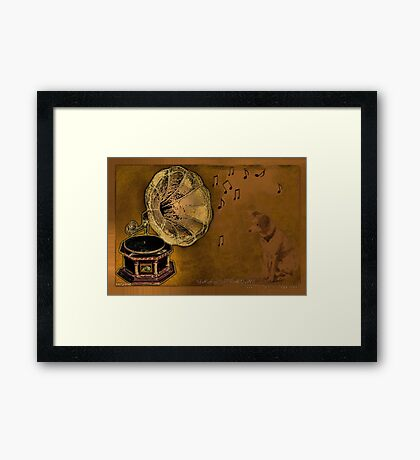 His Masters voice... Framed Print