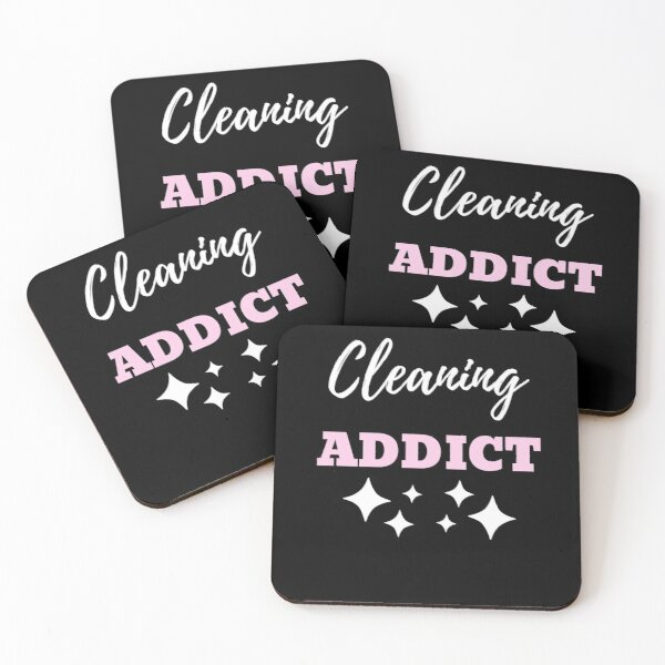 Cleaning Addict Coasters (Set of 4)