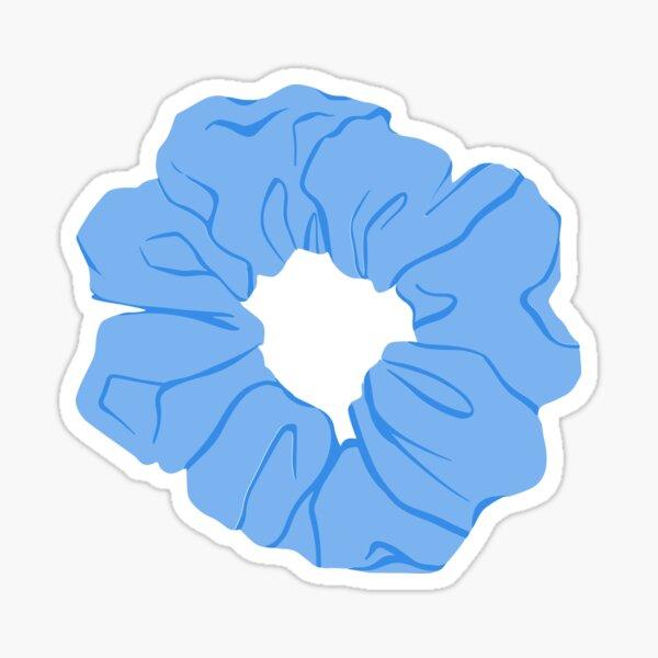 scrunchie azul Pegatina