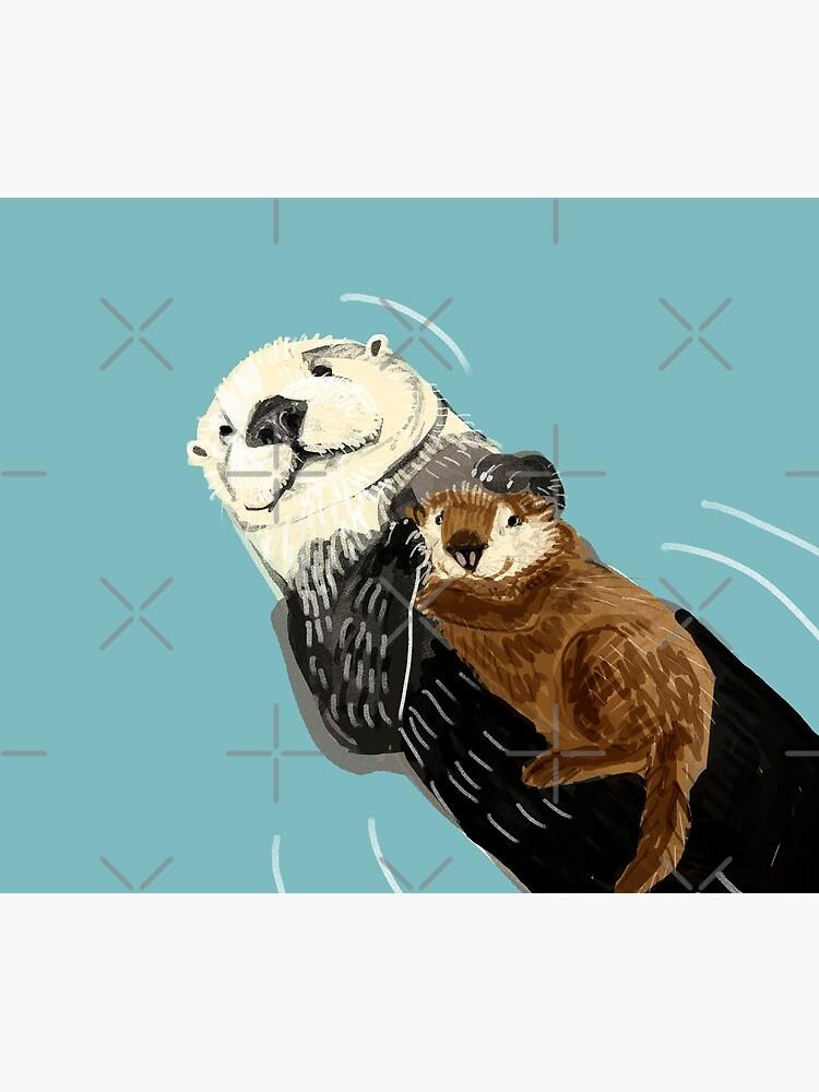Alaska sea otter by belettelepink