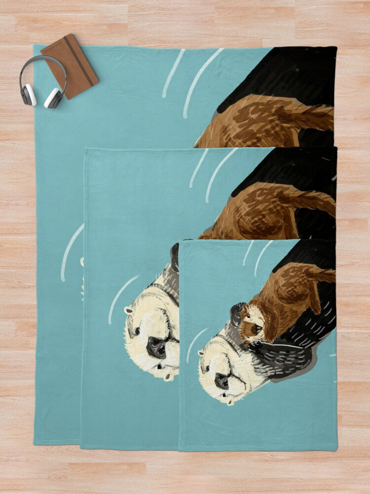 Alternate view of Alaska sea otter Throw Blanket