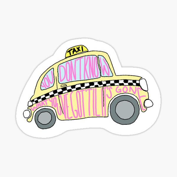 Big yellow taxi Sticker