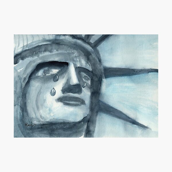 Lady Liberty Weeps Photographic Print