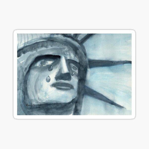 Lady Liberty Weeps Sticker