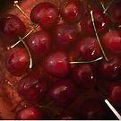 Poached Cherries by macragraphics