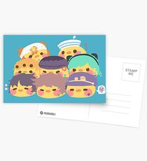 8 birds Greeting Card