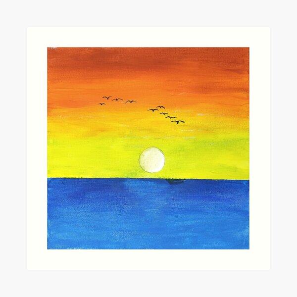 Flying Over Sunset Art Print