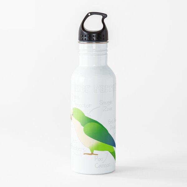 Anatomy of Quaker Parrot Monk Parakeet Water Bottle