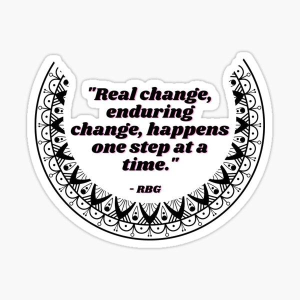 "RBG Collar ""Real Change"" Sticker"