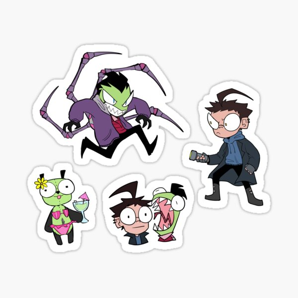 Invader Zim Sticker Pack Sticker