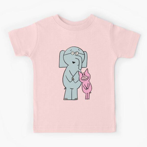 Elephant and Piggie. Gerald and Piggie. Anime transparent sticker, mo willems Kids T-Shirt