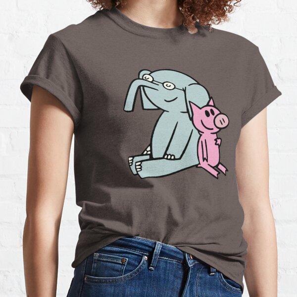 Elephant and Piggie. Gerald and Piggie. Anime transparent sticker, mo willems Classic T-Shirt