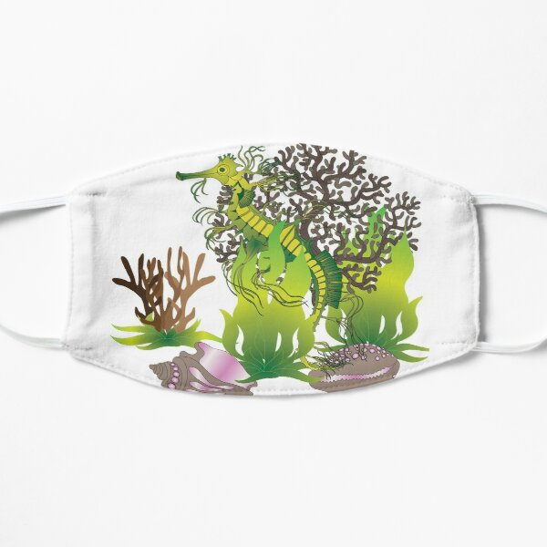 A leafy Sea Dragon Flat Mask