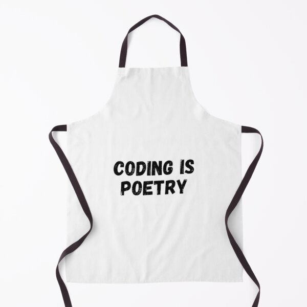 Coding Is Poetry Apron