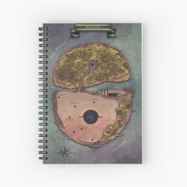 WIRE - Svetlana Card Spiral Notebook