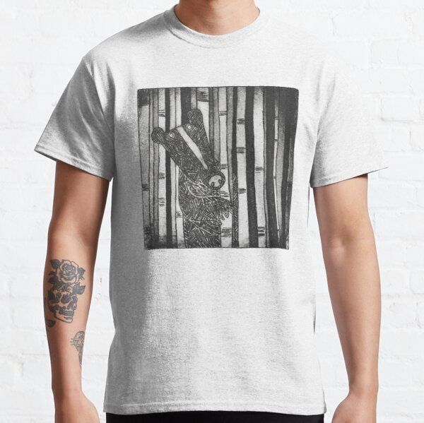 Black bear standing within silver birch trees. Classic T-Shirt