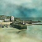 Moody Blue Harbour by Evelyn Flint