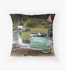 Mint Lambretta Throw Pillow
