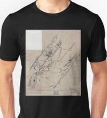 Civil War Maps 1846 Topographical sketch of a portion of the North Mountain Range the Valley of Virginia T-Shirt