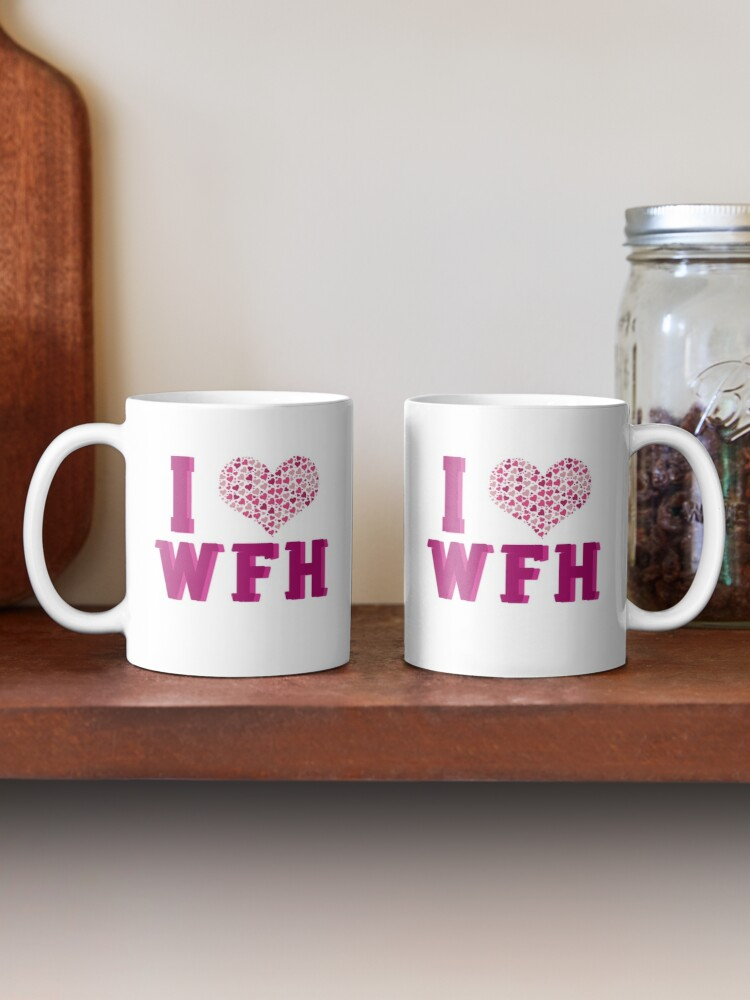 Alternate view of I Love Working From Home Mug
