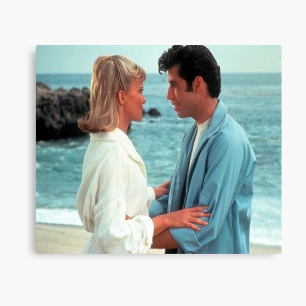 Sandy and Danny on the Beach Grease  Canvas Print