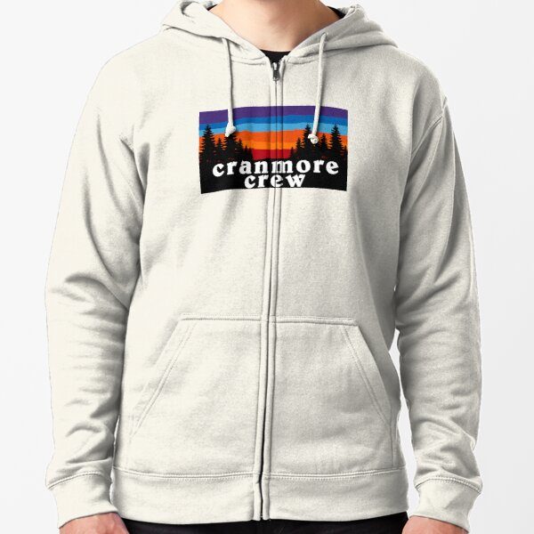 Cranmore Crew Mountain New Hampshire Ski Snowboard Skiing Loon Mountain  Hiking Gift Ideas Zipped Hoodie