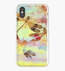 Mauritius Vintage Dragonflies Colours S iPhone Case/Skin