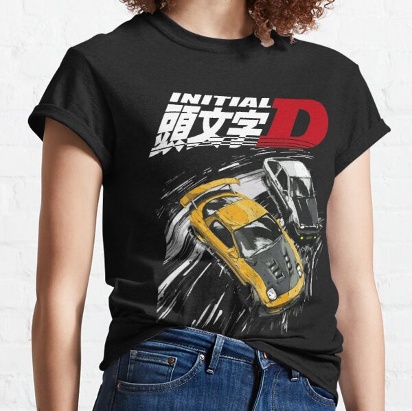 Inicial D - Mountain Drift Racing Tandem AE86 vs FD rx-7 Camiseta clásica