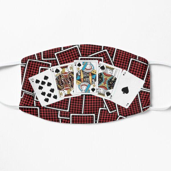 Royal Flush in Spades - Poker Mask Design Flat Mask