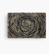 Abstract Jackson Pollock Painting Titled: Rabbit Hole  Canvas Print