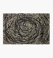 Abstract Jackson Pollock Painting Titled: Rabbit Hole  Photographic Print