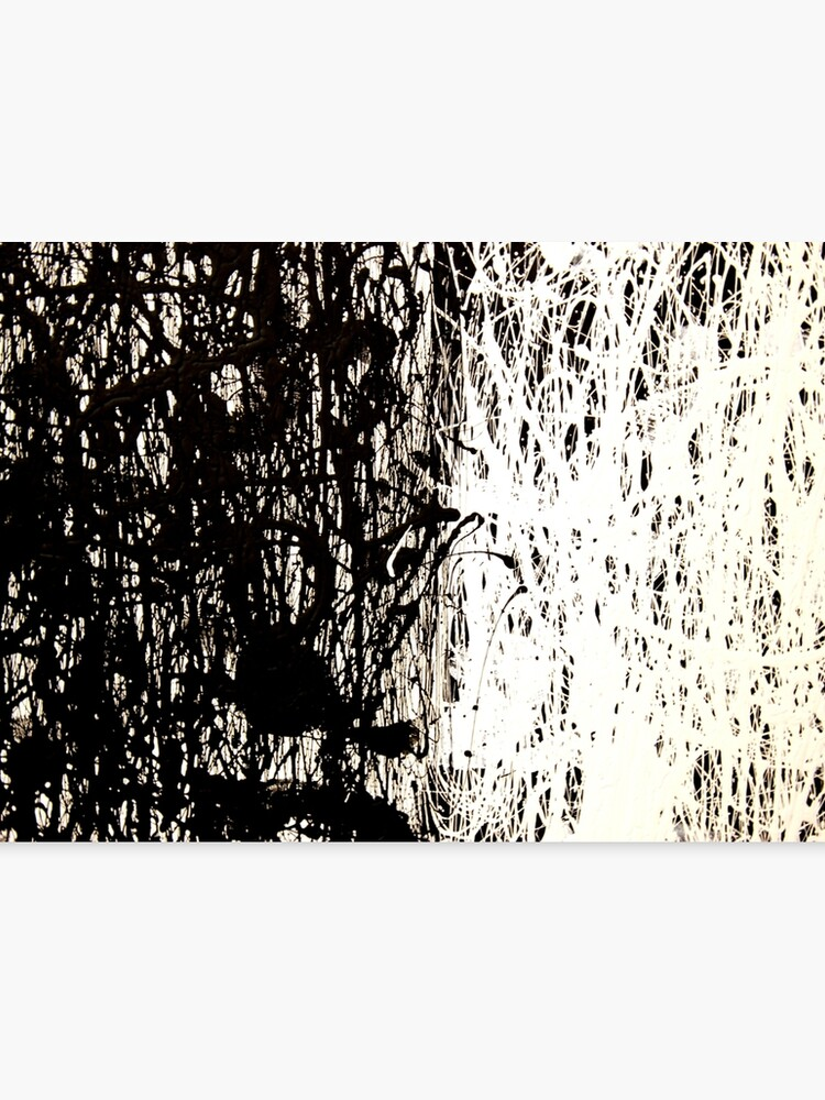 Modern Abstract Jackson Pollock Painting Original Art Titled Black White Canvas Print