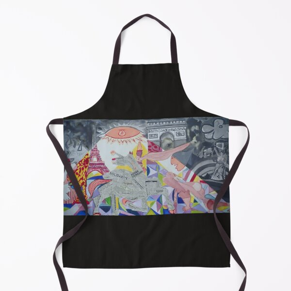 Guernica; but I wanted to divert it by trying to hold back only the hope of a better future. The decor and the attitude of the characters are transformed in the light of the large sole which this time illuminates the faces positively. The tiny tiny Guern Apron
