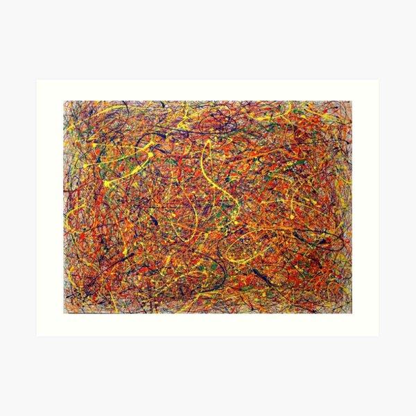 Abstract Jackson Pollock Painting Original Art Art Print