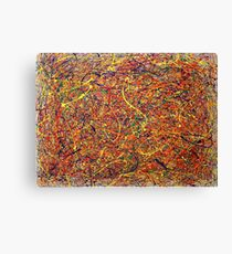 Abstract Jackson Pollock Painting Original Art Titled: Singularity Canvas Print