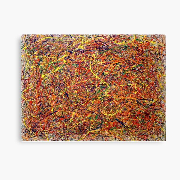 Abstract Jackson Pollock Painting Original Art Canvas Print