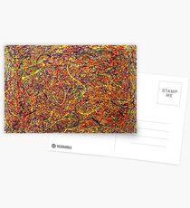 Abstract Jackson Pollock Painting Original Art Titled: Singularity Postcards