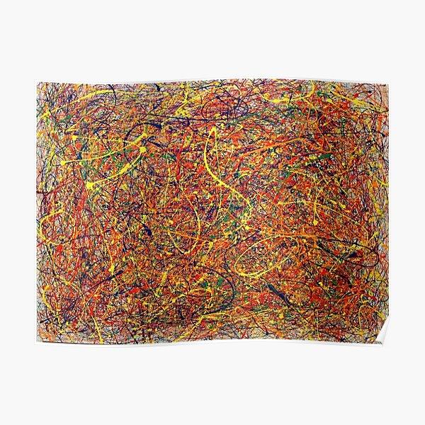Abstract Jackson Pollock Painting Original Art Poster