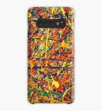 Abstract Jackson Pollock Painting Original Art Titled: Vivid Anomaly Case/Skin for Samsung Galaxy