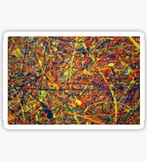 Abstract Jackson Pollock Painting Original Art Titled: Vivid Anomaly Sticker