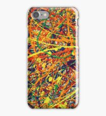 Abstract Jackson Pollock Painting Original Art Titled: Jump In iPhone Case/Skin