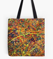 Abstract Jackson Pollock Painting Original Art Titled: Jump In Tote Bag