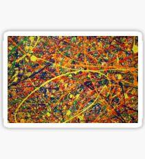 Abstract Jackson Pollock Painting Original Art Titled: Jump In Sticker