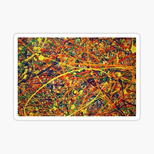 Abstract Jackson Pollock Painting Original Art Sticker