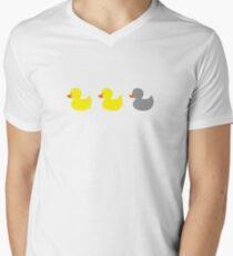 Duck, duck, gray duck! Men's V-Neck T-Shirt