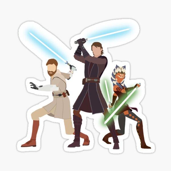 Obi Wan, Anakin, Ahsoka - Clone Wars Sticker